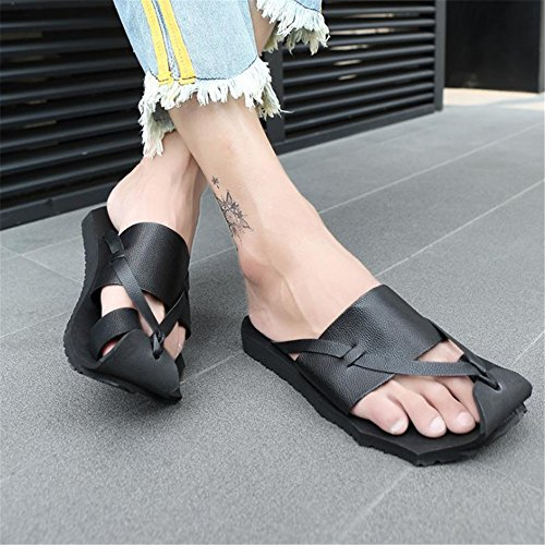 Negras Verano Pie Playa Wangcui Aire del Clip Los Sandalias Deslizadores Libre De De Deporte Los Zapatillas De La Zapatillas Al Antideslizantes del De Dedo Negro del De Hombres FFSOw