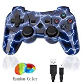 PS3 Controller Wireless Dualshock 3 - OUBANG Best PS3 Remote Sixaxis Control Gamepad for PlayStation 3 (Spark blue)