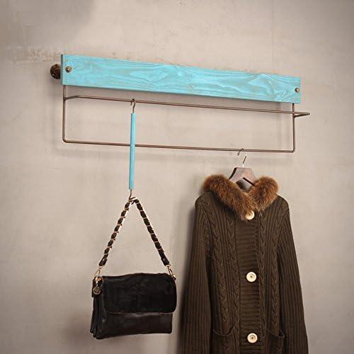 ZEMIN コートラック 壁 コートラック 服 帽子 ハンガー 保有者 ロッド ソリッドウッド ファッション ホームスタイル、 4色、 4サイズあり (色 : Green, サイズ さいず : 80x30x18CM)