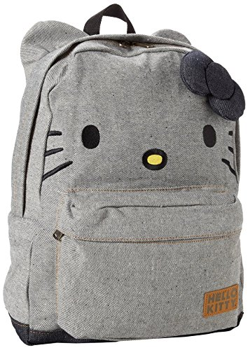 Hello Kitty Denim Backpack, Blue/Black