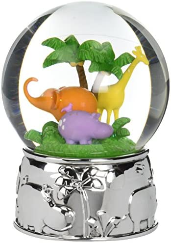 Reed Barton Jungle Parade Silver Plate Water Globe, Plays Kinder Children s Symphony