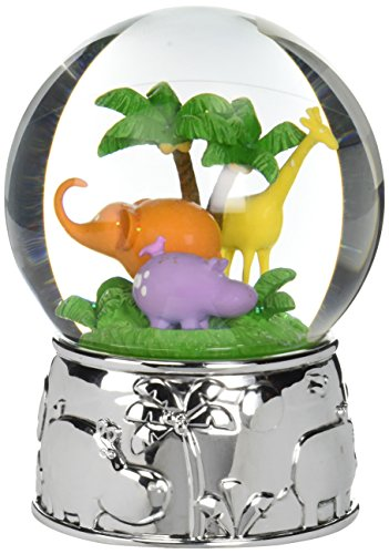 (Reed & Barton Jungle Parade Silver Plate Water Globe, Plays Kinder Children's Symphony)