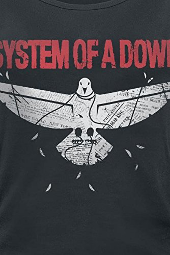 System Of A Down Overcome Top Mujer Negro Negro