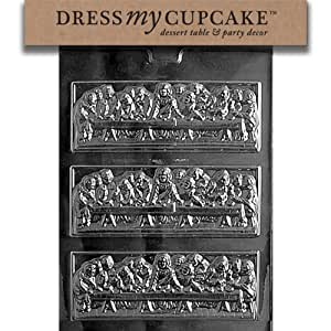 Dress My Cupcake DMCR022SET Chocolate Candy Mold, Last Supper Bar, Set of 6