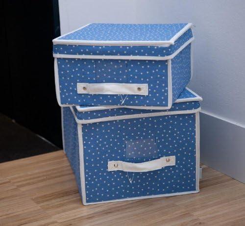 Textura - Caja Starbox - Talla : (30X40) - Color : Azul Oscuro: Amazon.es: Hogar
