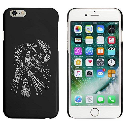 Noir 'Rockets à la Lune' étui / housse pour iPhone 6 & 6s (MC00019925)