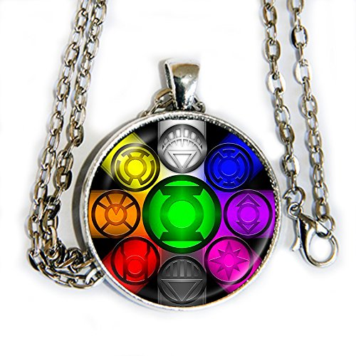 Lantern Corps - pendant necklace - Green Lantern - HM (X Men Mystique Halloween Costume)