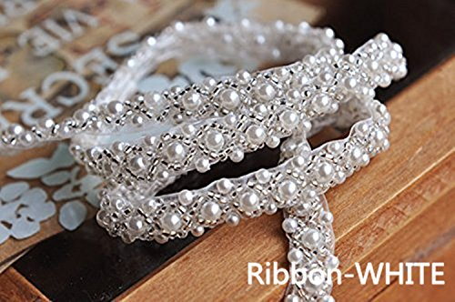 QueenDream Vintage Bridal Belt White Bridesmaid sash Rhinestone Bling Belt Wedding Bridal Belt for Party Evening Dresses Crystal sash Belt