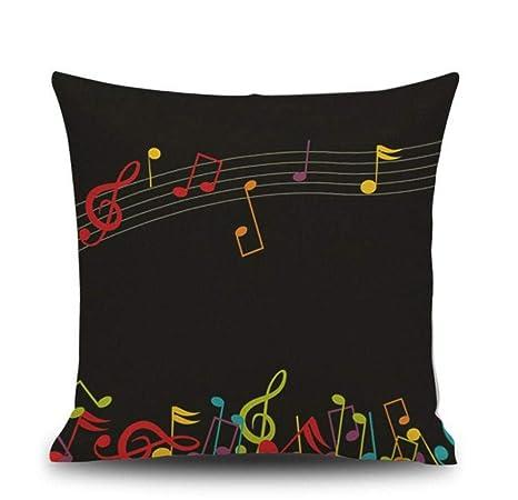 La almohada Carta notas piano patrón impresión digital ...