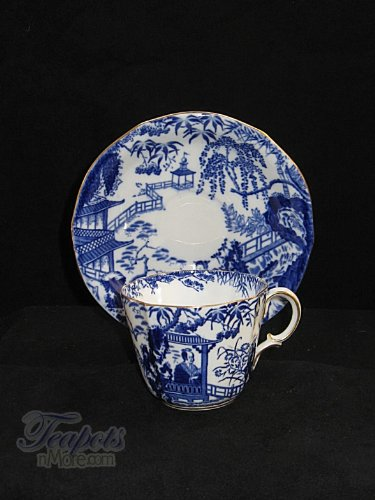 (Royal Crown Derby Blue Mikado Antique Demitasse Cup)