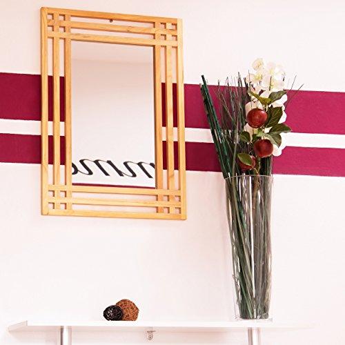 relaxdays 10020483 miroir en bois de pin fixation murale salle de bain couloir ebay. Black Bedroom Furniture Sets. Home Design Ideas
