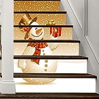 Pegatinas De Escaleras De Bricolaje 3D - Extraíbles Papel Pintado Pegatinas Para Escaleras Adhesivo Autoadhesivo Adornos Navideños Para Decoraciones De Escalones De Escalera De Azulejo De Santa,8: Amazon.es: Hogar
