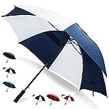 68 Inch Golf Umbrella (Blue/White, 4-Pack) Bulk Umbrellas Multi Pack Umbrellas Golf Accessories for Men Umbrella Windproof Sun Umbrella Large Umbrella