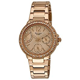 Casio Sheen Multi Fuction Analog Copper Dial Women's Watch – SHE-3805PG-9AUDR (SX135)