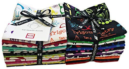 RJR GEEKERLY Fat Quarter Bundle 27 Precut Cotton Fabric Quilting FQs Assortment by RJR Fabrics