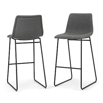 Astounding Amazon Com Simpli Home Axcrid30 Gl Ridley 30 Inch Set Of 2 Inzonedesignstudio Interior Chair Design Inzonedesignstudiocom