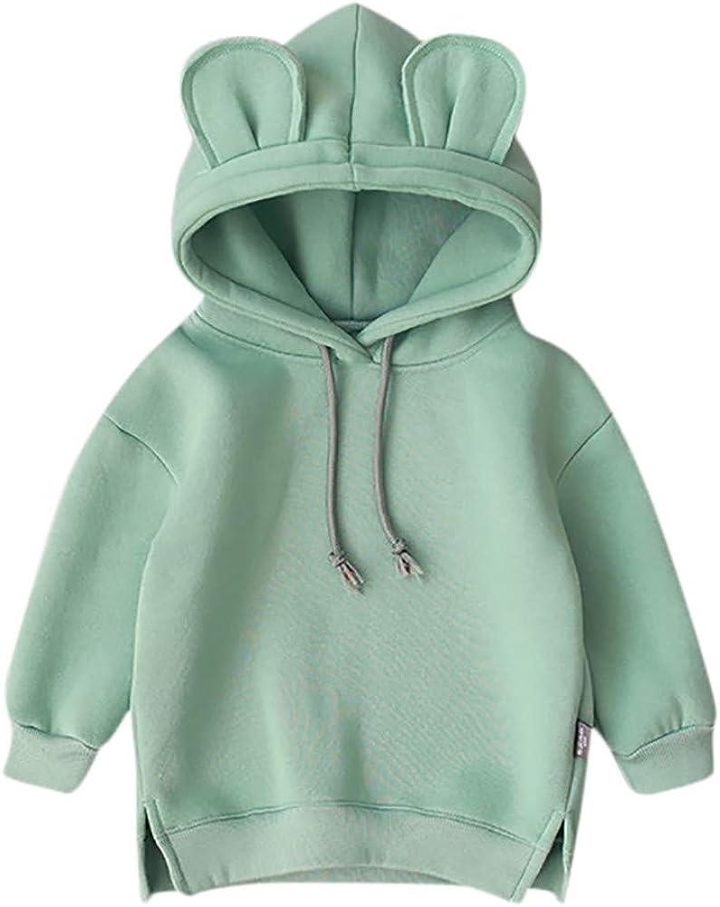 Kleinkind Baby Kinder Jungen M/ädchen Mit Kapuze Pullover Cartoon 3D Ohr Hoodie Sweatshirt Tops Kleidung Huhu833 Baby Sweatshirts