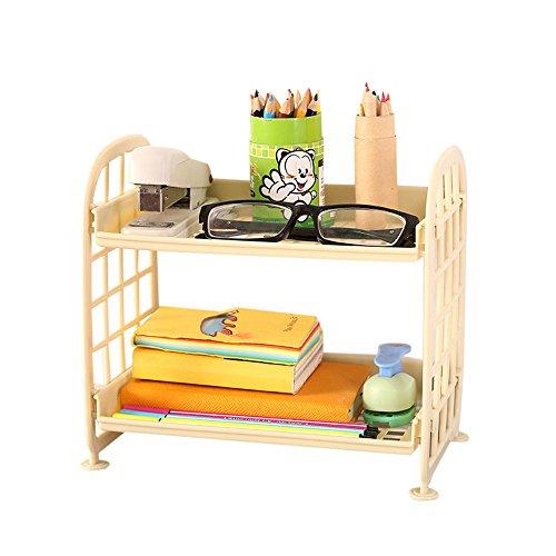 Price comparison product image Storage Box,  AmyDong Bathroom Bedroom Living Storage Double Layer Cosmetic Storage Rack Kitchen Organizer Plastic Plate (Beige)