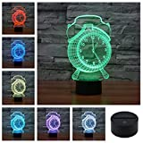 Headset Pattern Colorful Ornament 3D Acrylic Visual Touch Table Lamp Home Bar Art Child USB LED Desk Night Light 3D-TD128