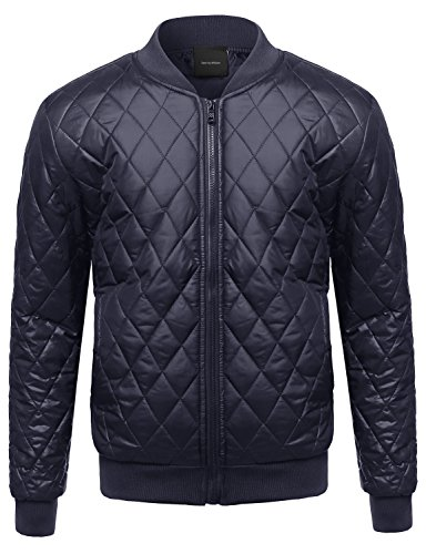 Quilted Knit Bomber Jacket - 7