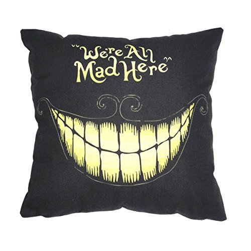 CH Cotton Linen Retro Home Decorative Throw Pillow Cushion Cover 45 X 45cm (Cute Halloween Home Decor)