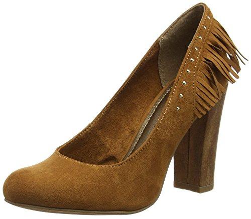 Punta Cerrada De Tacón Mujer Tozzi Con Cognac Para Zapatos Marco 22443 YI0qFxx
