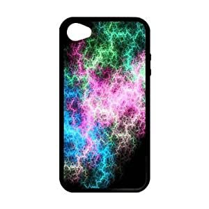 five color galaxy Custom Case for iPhone 4,4S (Laser Technology)