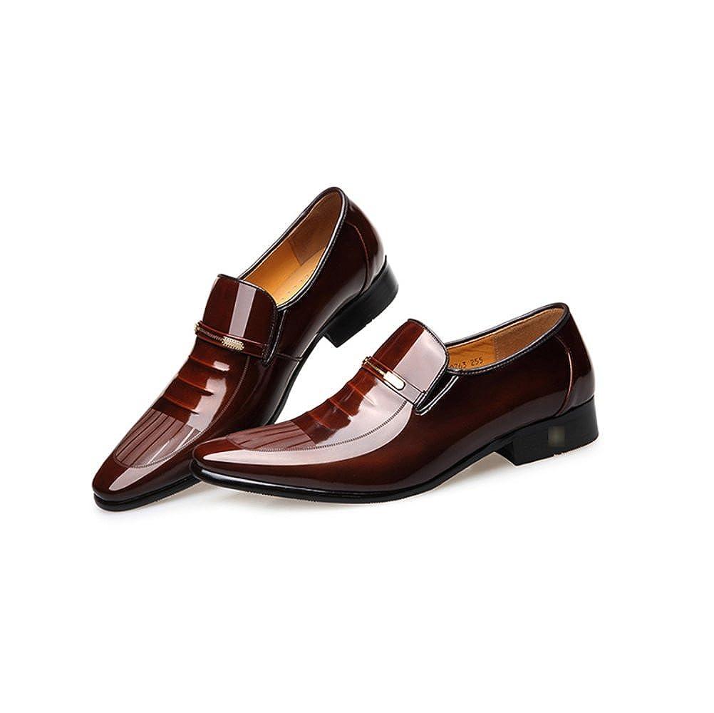 LYZGF Herren Herren Herren Gentleman Business Casual Fashion Hochzeit Lackleder Spitze Lederschuhe dffab4