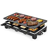 Best Electric Outdoor Grills - Electric Grill Techwood Raclette Grill with Double-sided Nonstick Review
