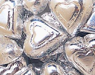Milk Chocolate Silver Hearts: 5 LBS