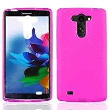 LF 4 in 1 Bundle – Pink TPU Flexible Gel Case Cover, Lf Stylus Pen, Screen Protector & Droid Wiper Accessory for (Verizon) LG G Vista VS880 (TPU Pink)