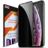 Uxinuo Privacy Screen Protector Compatible with iPhone X Xs Premium 4D Curved Edge to Edge Full Coverage Privacy Tempered Glass Screen Protector for Apple iPhone X XS 2017 2018 5.8 Inch