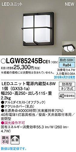 パナソニック照明器具(Panasonic) Everleds LEDエクステリアポーチライト LGW85245BCE1 (拡散タイプ昼白色) B079CCJ2H2 10240