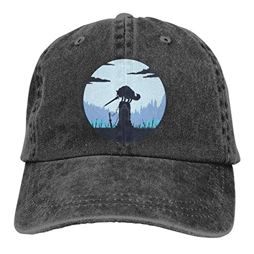 Yuliang Grey Wolf SIF (Dark Souls) Vintage Unisex Adult Adjustable Snapback Cowboy Hat Black -