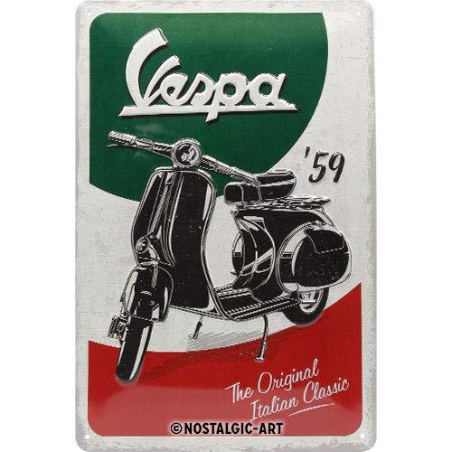 Nostalgic-Art Vespa de The Italian Classic Cartel de Chapa, Metal, 20 x 30 cm