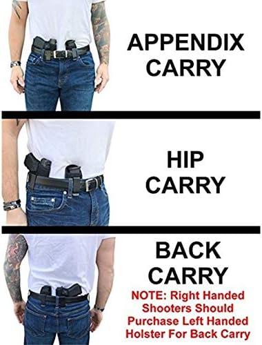 Farbe : B Bund Pistole//Pistolenhalfter Mit Beutel B/ündel Pistole for Verdeckte Tragetaschen for S /& W M /& P Shield for Glock 17//19//23//26//27//42//43 XFC-Holsters