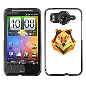 Caucho caso de Shell duro de la cubierta de accesorios de protección BY RAYDREAMMM - HTC G10 - Minimalist Polygon Wolf