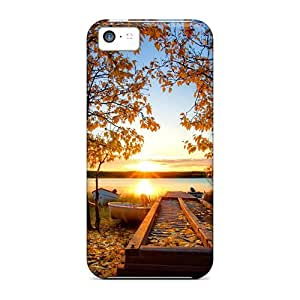 New Autumn Sun Over The Riverbank Cases Covers, Anti-scratch Vka22736rSyg Phone Cases For Iphone 5c