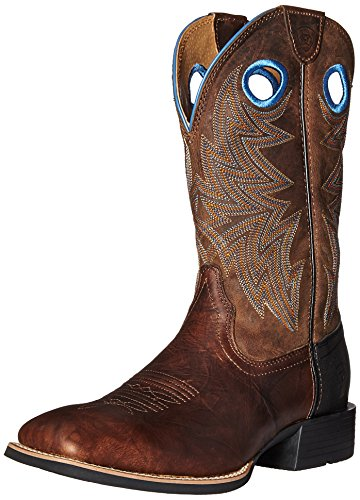Ariat Men's Heritage Cowhorse Western Cowboy Boot,Bar Top Brown/Woodsmoke,9 D US