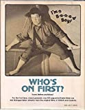 Who's on First?, Richard J. Anobile, 039308535X