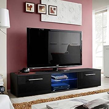 Paris Prix Meuble Tv Design Bono Iii 180cm Noir Amazon Fr