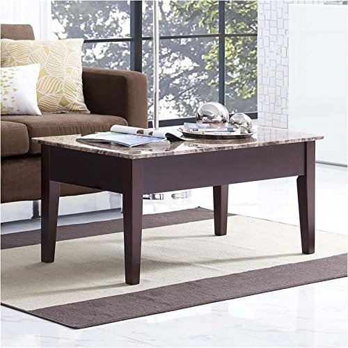 Buy Online Marble Top Coffee Table: Dorel Living Faux Marble Lift Top Coffee Table