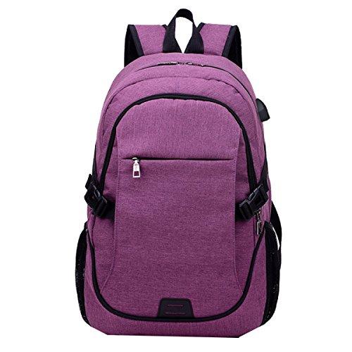 Yy.f Nueva Bolsa De Viaje Hombres De La Moda Del Hombro Morral Del Ocio Ordenador Y De Negocios Estudiantes De Secundaria Y Preparatoria Bolsa Multicolor Purple