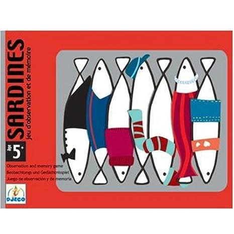 DJECO- Juegos de cartasJuegos de cartasDJECOCartas Sardines, (36)