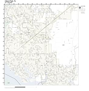Amazon.com: ZIP Code Wall Map of Hiland Park, FL ZIP Code ...