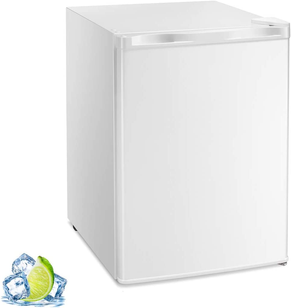 R.W.FLAME Mini Freezer Countertop, Energy Star 2.1 Cubic Feet Single Door Compact Upright Freezer with Reversible Door(White)