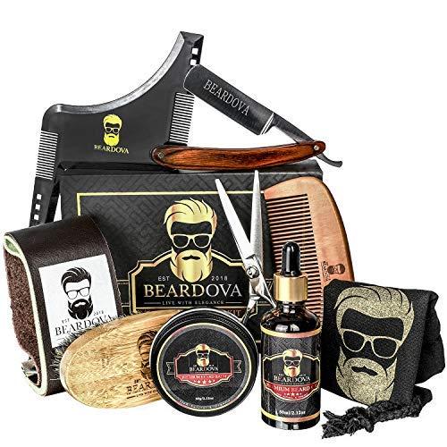 8e1c5cb45ebc Beard Grooming Kit for Men 10 in 1 Best Beard Kit Includes Brush, Oil,  Comb, Balm, Str..