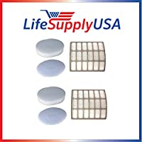 2 HEPA Filter, 2 Foam Filter & 2 Felt Filter; Fits Shark NV80 Models; Part # XHF80 and XFF80 by Vacuum Savings