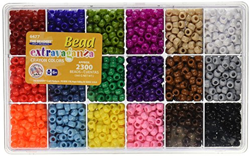 Dancing Beads - The Beadery Giant Crayon Bead Box - approximately 2300 beads