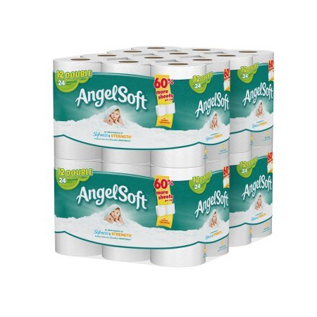 Angel Soft 2 Ply Toilet Paper, 48 Double Bath Tissue (Pack of 4 with 12 rolls each) (2 Pack (48 Double rolls))